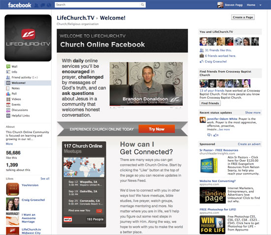 Lifechurch.tv facebook page