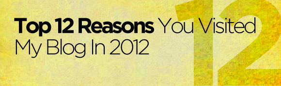 Top 12 Reasons you visited my blog in 2012