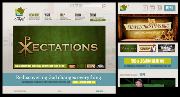 the chapel responsive design church website