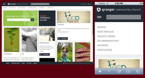 Granger Community Church Responsive Design Website