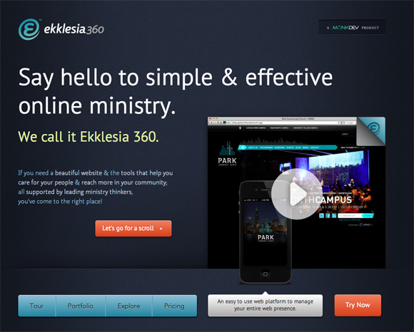 Ekklesia360 church website solutions