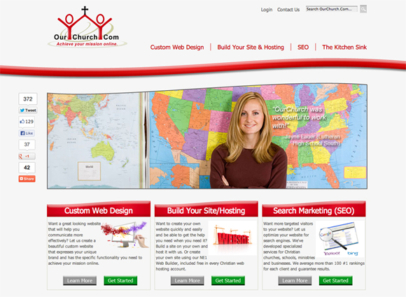 Ourchurch church website solutions