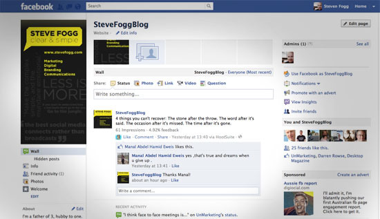 how to create featured for you on facebook page