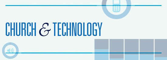 church and technology infographic