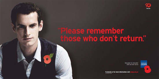 Andy Murray Poppy Day
