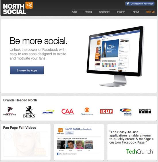 North social landing page