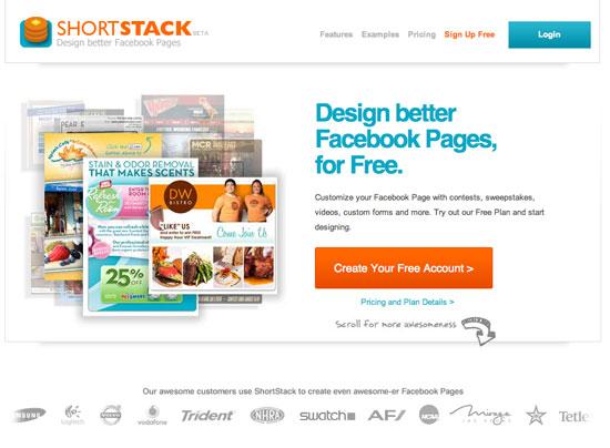 shortstack facebook landing page