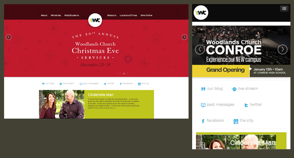 Woodlands church responsive design church website