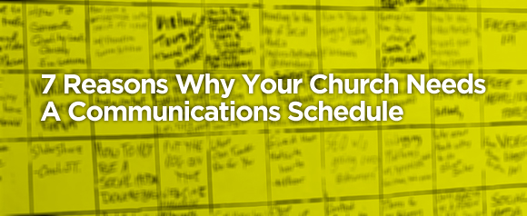 church communications schedule