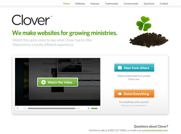 Clover sites church website solutions