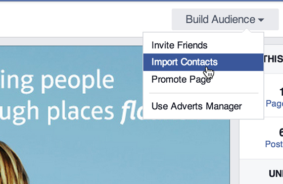 Import contacts into Facebook