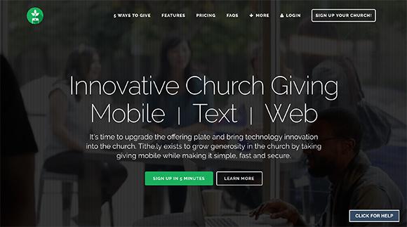 Tithely, church, giving